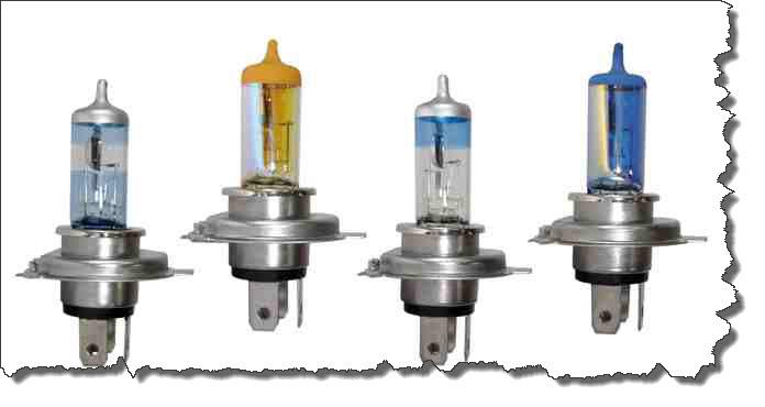 автомобильные галогенные лампы увеличенной яркости