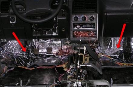 передняя панель убрать шум
