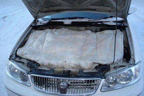 как утеплить двигатель на зиму