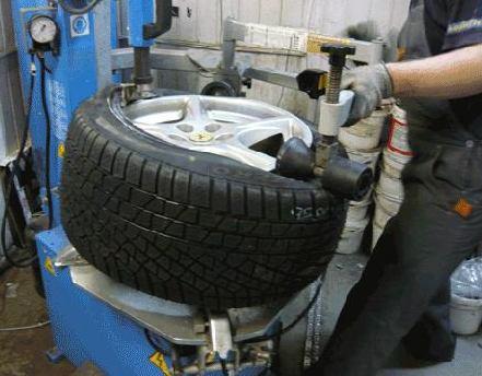 монтаж и демонтаж шин