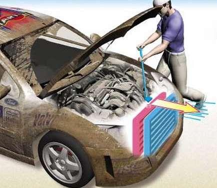 чистка автомобильного радиатора