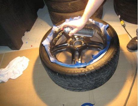 покраска диска колесного
