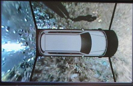 вид автомобиля с камер сверху