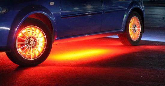 установка неоновой подсветки на машину