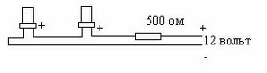 Светодиоды паять по этой схеме