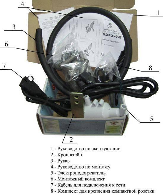 комплектация нагревателя