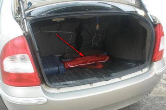 Сцепка в багажнике занимает мало места