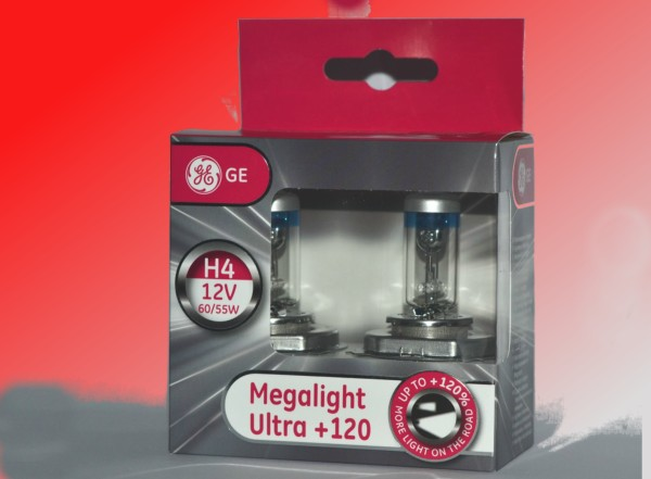 фото GE Lighting H4 Megalight Ultra +120