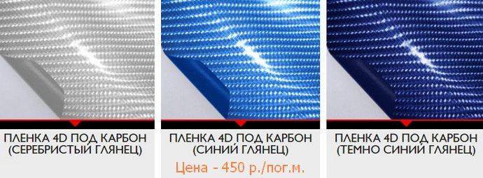 серебристый и синий глянец 4d